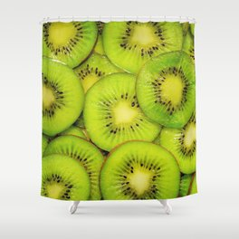 Green kiwis Shower Curtain