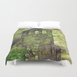 Ruins in the forest Duvet Cover