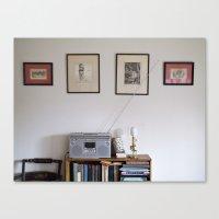radio Canvas Prints featuring Radio by Liz Morrison Smith