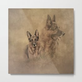 German Shepherd Dog Collage Metal Print