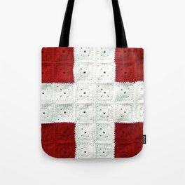 White Cross Tote Bag