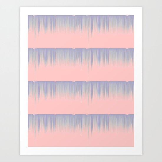 Drip Stripe Art Print