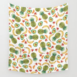 Crazy About Fruit Wall Tapestry