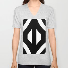 Stripe Me Black And Whte Unisex V-Neck