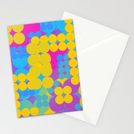 Pansexual Pride Layered Abstract Circle Grids Stationery Cards