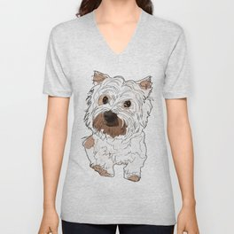 Lolo, West Highland Terrier Unisex V-Neck