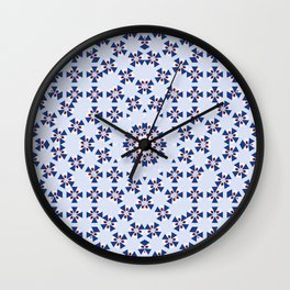 "Blue ""Coat of Arms"" Pattern - Version two Wall Clock"