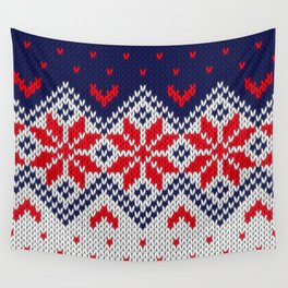 Winter knitted pattern 11 Wall Tapestry
