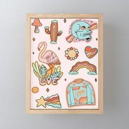 Rainbow Sticker Sheet Framed Mini Art Print