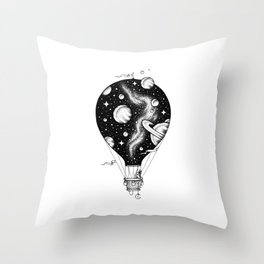 Interstellar Journey Throw Pillow