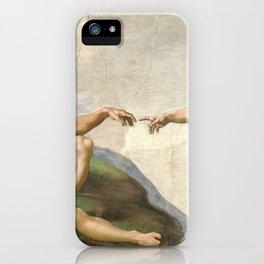 Michelangelo, The Creation of Adam, 1510 iPhone Case