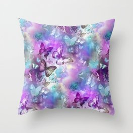 Butterflies Dreaming Throw Pillow