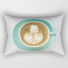 Cup of Coffee with Coffee Beans Rectangular Pillow
