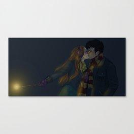 Winter Hinny Dark Canvas Print