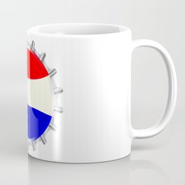Red White And Blue Bottle Cap Coffee Mug