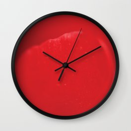 Red flower, macro photography, living room, kitchen, wall art, food, flowers Wall Clock