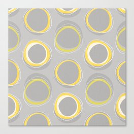 Solar Eclipse MCM Gray-Yellow Canvas Print