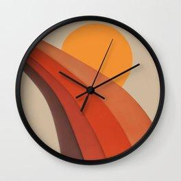 Sunset Valley Wall Clock