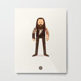 Bray Wyatt - WWE Illustration Metal Print