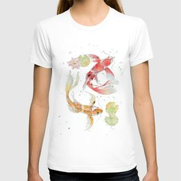 "Watercolor Painting of Picture ""Koi Pond"" T-shirt"