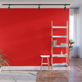 ff0000 Bright Red Wall Mural