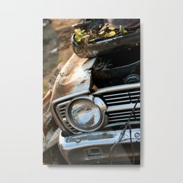 Abandoned Car in the Middle of the Country Metal Print
