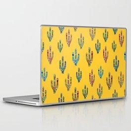 Mosaic Cacti on Yellow Laptop & iPad Skin
