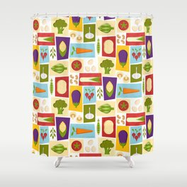 Farm to Table_pattern Shower Curtain