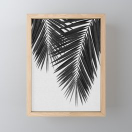 Palm Leaf Black & White II Framed Mini Art Print