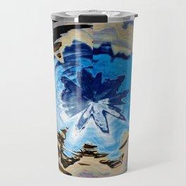 Glacier Wave Abstract Travel Mug