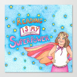 Reading Is My Superpower Canvas Print