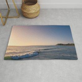 Longboard Surfer Rug