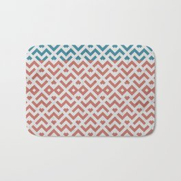 Rose and Gold Marble Pattern Bath Mat