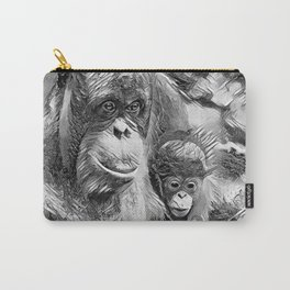 AnimalArtBW_OrangUtan_20170910_by_JAMColorsSpecial Carry-All Pouch
