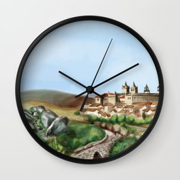 Viseu landscape Wall Clock