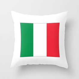 Italian flag-Italy,Italia,Italian,Latine,Roma,venezia,venice,mediterreanean,Genoa,firenze Throw Pillow