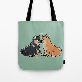 Shiba Inu Kisses Tote Bag