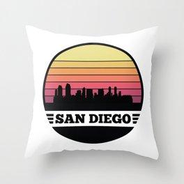 San Diego Skyline Throw Pillow