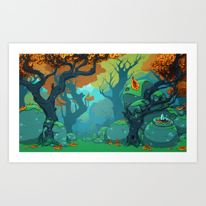 End of Fall Art Print