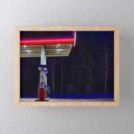 Gas station Framed Mini Art Print