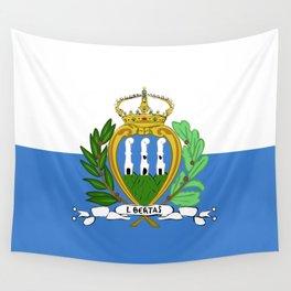 San Marino flag emblem Wall Tapestry