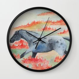 Indian Paintbrush Dakota Horse Wall Clock