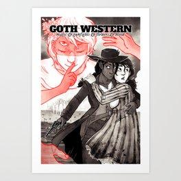GOTH WESTERN Poster Art Print