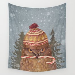 Christmas Owl  Wall Tapestry