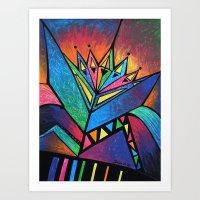 alien Art Prints featuring ALIEN by Deyana Deco