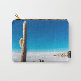 Cactus on Isla Incahuasi, Salt Flats, Bolivia Carry-All Pouch