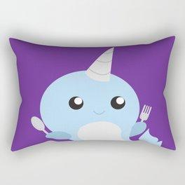Narwhal - Meal Time Rectangular Pillow