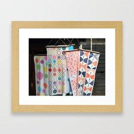 Japanese Tapestry Textile Banner Framed Art Print