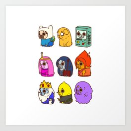 Pugventure Time! Art Print