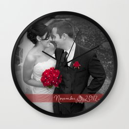 Custom Wedding Decor Wall Clock